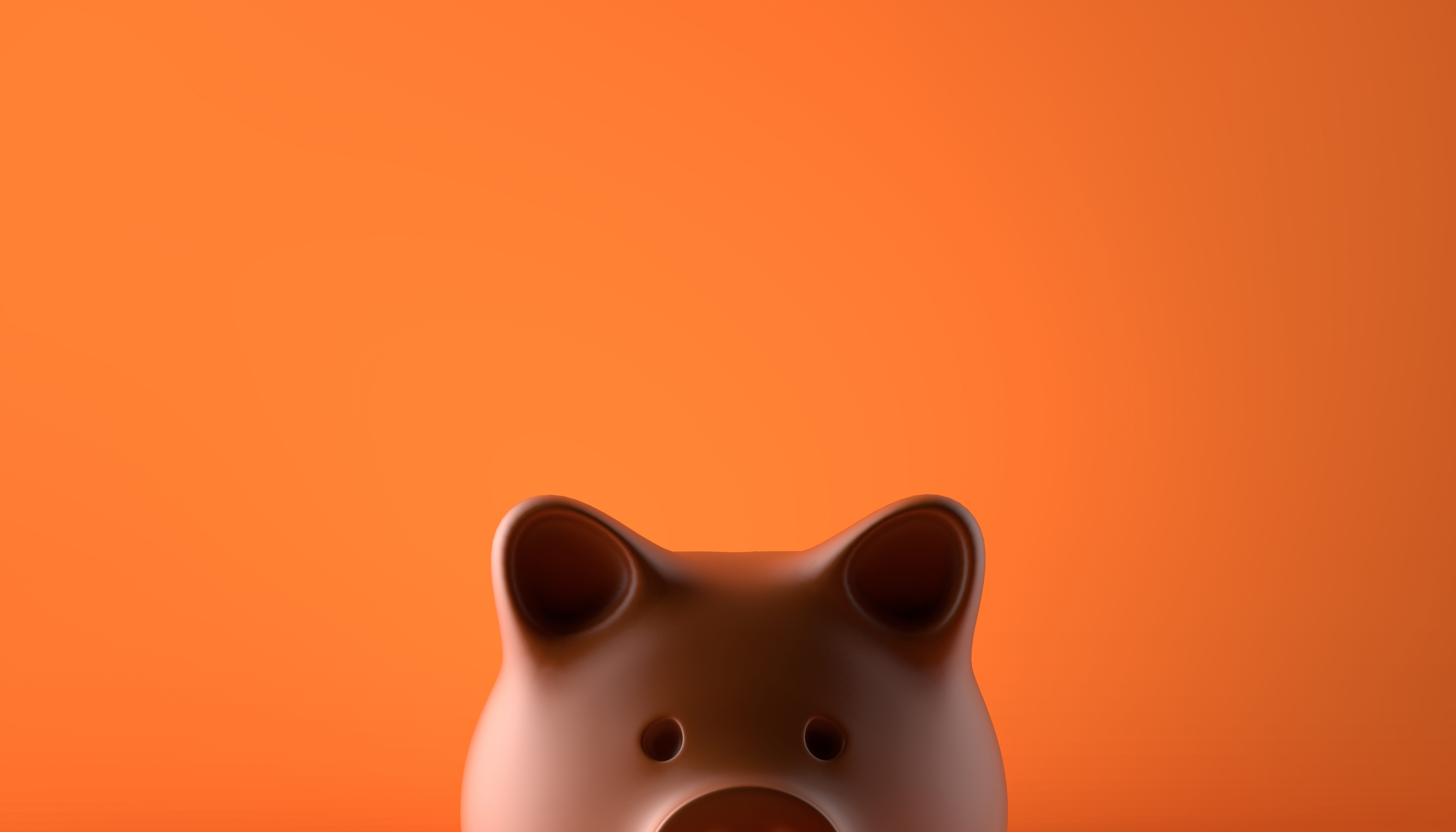 Cofre de porquinho remetendo ao hábito de poupar